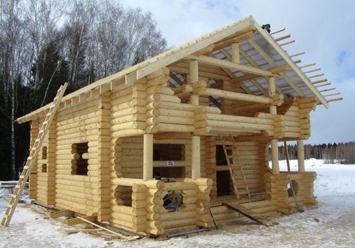 Консервация дома из бревна